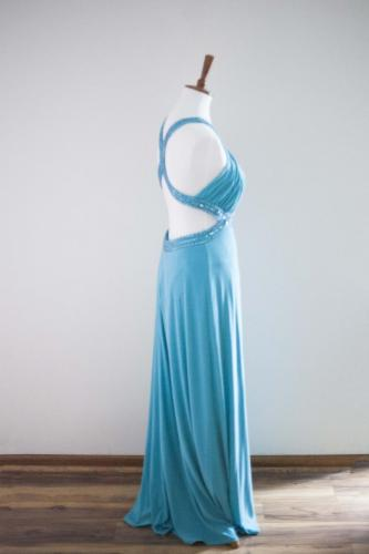 Max I. Walker Ultra Chic Boutique Teal Prom Dress
