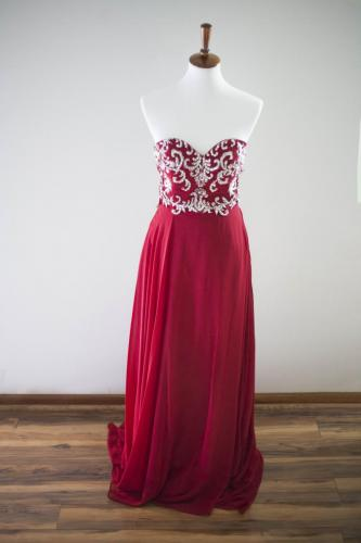 Max I. Walker Ultra Chic Boutique Red Prom Dress