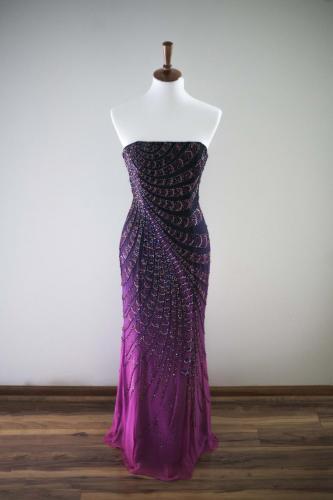 Max I. Walker Ultra Chic Boutique Purple Prom Dress
