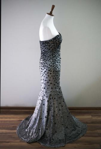Max I. Walker Ultra Chic Boutique Grey Prom Dress