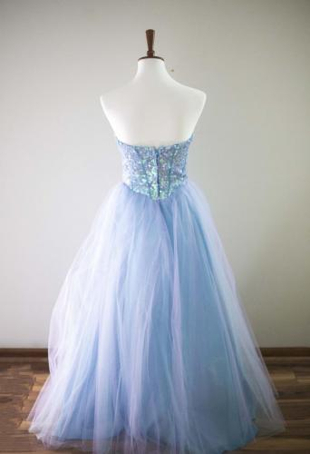 Max I. Walker Ultra Chic Boutique Blue Prom Dress